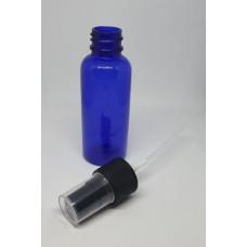 Mėlynas plastikinis buteliukas su dozatoriumi (50ml)
