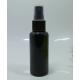 Juodas plastikinis buteliukas su dozatoriumi (100ml)